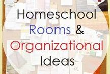 Homeschool Organization / #Homeschool rooms and all organizational tools. Strategies, tips and ideas for organizing all things home and homeschool.
