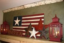 Americana / Most of our home is Americana with primitive/country accents :-) / by Samantha Gilbert