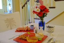"""Food at Green Palm Inn / Bed and breakfast food is a highlight to Savannah GA lodging guests at Green Palm Inn, experiencing """"The Softer Side of Savannah"""" on the Georgia USA coast."""