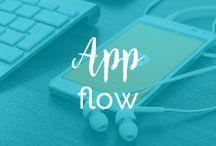 App Flow / Przepływ użytkownika przez aplikację - wzory