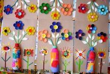 """Art for Kids: Upcycled and Recycled / As a Mom and an Art Teacher I am always looking for creative ideas to use with my children and art students. Here are a few art ideas using upcycled and recycled everyday objects. *Don't forget to check out all of my other """"Art Projects for Kids:..."""" Pinterest Boards."""