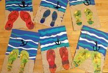 """Art for Kids: Handprint, Footprint Art / As a Mom and an Art Teacher I am always looking for creative ideas to use with my children and art students. Here are a few footprint and handprint art ideas I want to use with my little budding artists! *Don't forget to check out all of my other """"Art Projects for Kids:..."""" Pinterest Boards."""
