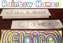"""Art for Kids: Alphabet, Name, and Word Art / As a Mom and an Art Teacher I am always looking for creative ideas to use with my children and art students. Here are a few alphabet, name, and word art ideas I want to try with my budding artists! *Don't forget to check out all of my other """"Art Projects for Kids:..."""" Pinterest Boards."""