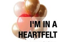 I'm in a HEARTFELT mood. / Our 'Heartfelt', gold, pink and red balloon palette is perfect for gender reveals, Valentine's Day, cupcake parties and Troll parties. Designed by Luft Balloons in Chicago.