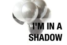 I'm in a SHADOW mood. / Our 'Shadow', black and white ombre balloon palette is perfect for panda and zebra parties, soccer parties and dad birthdays. Designed by Luft Balloons in Chicago.