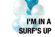 I'm in a SURF'S UP mood. / Our 'Surf's Up', blue and white ombre of balloon palette is perfect for ocean themes, mermaids, unicorns and baby boy showers and first boy birthdays. Designed by Luft Balloons in Chicago.