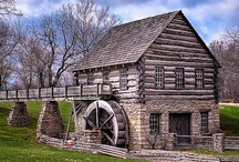 Grist Mills / I love the rustic beauty of grist mills as I do for covered bridges.