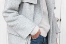 Fall fashion inspiration / I looooove fall fashion! Gray knits and layering!