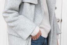 Fall fashion inspiration / I looooove fall fashion! Gray knits and layering!