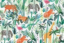 Jungle boogie / jungle, animaux, forêt tropicale, girafe, lion, serpent, perroquet, singe, léopard, fourrure, tigre