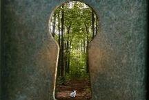 THE GARDEN - GATES, DOORS, FACES, DOORKNOBS, KEYS / THE GARDEN / by Sue Lodmill
