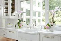 beautiful white kitchens / by Snappy Turtle