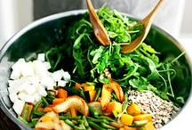 Salads / Vegetables are the sensible way to go. Refreshing, healthy, yummy recipes.