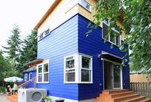 Colorful West Seattle Addition / this colorful house is the result of what happens when a planned backyard cottage becomes part of the primary residence.