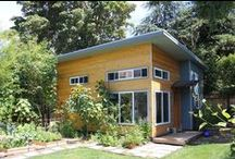 Backyard Cottage Capitol Hill / a new backyard cottage in seattle's capitol Hill neighborhood designed by seattle design collaborative microhouse. this 400 sf cottage, contains a bedroom, bath, kitchen ,living room and a loft. photos by max ralph