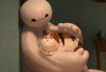 Costume Ideas:  Big Hero 6 Family / Ava is dressing up as Baymax this year! Splurged on her costume and got one that blows up with air.  Now for Lucy, I am thinking she may go for a cat costume like Hiro's cat Mochi aka Hairy Baby.  I think that would be cute for her & also go well with Ava's Baymax. I am thinking of dressing up as GoGo Tamago in her black moto jacket outfit. An easy costume for Ron could be Yokai.  Just need a Kabuki mask.  / by CACTUSmango