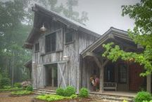 Architecture {Cabins} / Cabins and timber frame homes of all varieties.