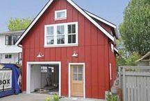 Backyard Cottage Ravenna / This backyard cottage features a 1 bedroom, 1 bath apartment above a garage/shop.