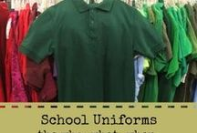 School uniforms / by Inga Cotton | San Antonio Charter Moms