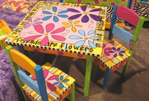 painted chairs and furniture / by Barb Jones