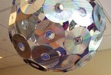 Creatief met oude cds / Upcycle recycle reuse old cds for artistic / creative purposes.