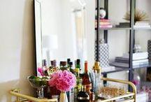 Booze. / Alcoholic drinks & bar carts