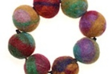 Felt jewellery / Felt jewellery is bright, fun and lightweight which means statement pieces are easy to wear. And it requires very little equipment to make. You can learn about felting and making colourful beads on our taster class http://www.londonjewelleryschool.co.uk/taster-classes/felt-jewellery-taster