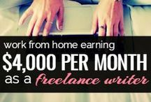 Get Paid to Write - Freelance! / I love to write. I've always been a writer but never really thought of myself as one.  I've learned how to write and get paid for it. YAY!