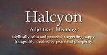 Halcyon & Sparkle : my words of the year / My guiding words for 2018