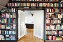 Home Interiors / Spectacular bookcases, showers and log cabins.  The places of my dreams.