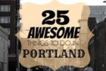 PORTLAND, OR / The best things to see, do and eat in Portland, OR.  Everything from restaurants and hikes, to museums and shopping.