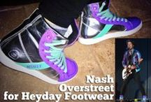 Nash Overstreet in Heyday / Hot Chelle Rae guitarist Nash Overstreet has been wearing Heyday Footwear high tops for 3 years. In 2013 he collaborated with Heyday Footwear on his own sneaker the NSHTY Shift, available exclusively from the designer at www.HeydayFootwear.com