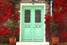 decorate :: doors / Decorating front doors, interior doors and repurposing old doors.  / by Ask Anna