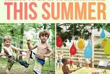 SUMMER FUN WITH KIDS / Summer at home with kids can be tricky, so we've scoured the internet for tons of great ways to keep your kids busy and having fun during the warm summer months.