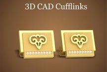 3D CAD Cufflinks / 3D CAD Jewelry Design Models