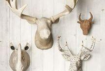 The Hunt / Hunting cabins. Animal heads. Camo.