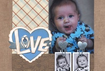 Scrapbooking Page Layouts- General Baby/ Kids  / Scrapbooking pages that I like and would love to recreate in my own scrapbooks in the future! These I see working for both Boys and Girls with a couple changes here and there. / by Kelley Wullaert