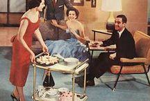 Vintage Entertaining / Cocktails are served