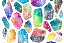 Crystal Paintings / Gorgeous crystal paintings and gemstone illustrations by creative artisans around the world