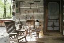 Country Porches / ~A place to sit down, a place to kick off your shoes, A place to cast away your worries and troubles from the day~ / by Paula Gildow