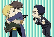 Fanart / Mostly Sherlock (especially Johnlock) but also some Doctor Who, Avengers, and Supernatural.