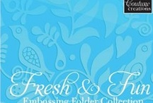 Fresh and Fun embossing folder collection / Will work in all leading machines including Cuttlebug and Big Shot