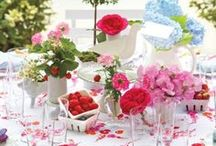 Tablescapes - Wining and Dining / Lovely tables, centerpieces, serve ware, lighting, entertaining ideas