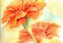 Color of the Month- November -Marigold Orange / Colors play such an important role in our daily lives. I thought this would be a fun and creative way to share my love of colors with you! / by Linda A. Kinsman