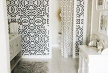 Wall Design | BATHROOM / Great ideas for your bathroom - amazing wall murals, cool prints & beautiful tiles