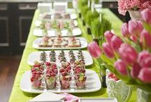 Buffet inspiration / An extra bonus when a client asks me to help set up a party / by Nancy Breslin