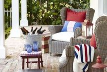 Happy Red, White & Blue / Red, white and blue aren't just for July anymore! Check out our board for tips and tricks on how to proudly work these patriotic colors into your home decor and get-togethers any time of the year, all for less at HomeGoods. / by HomeGoods