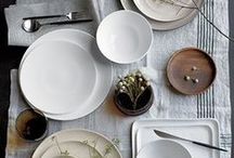 Stay Neutral this holiday season / Tabletop decor ideas for Thanksgiving neutral table / by Ashley Schoenknecht