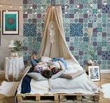STYLE | Boho / Bohemian styled interiors - from bathrooms to living rooms...