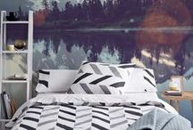 Winter Home Decor / Wall murals and other decorations for winter spent at home